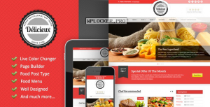 Delicieux v1.3.0 – Restaurant WordPress Theme
