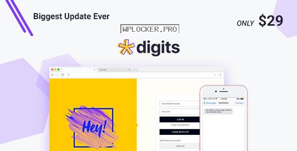 Digits v7.5.0.1 – WordPress Mobile Number Signup and Login