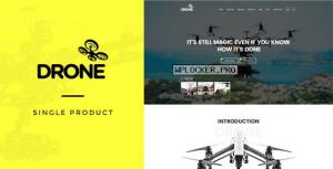 Drone v1.26 – Single Product WordPress Theme