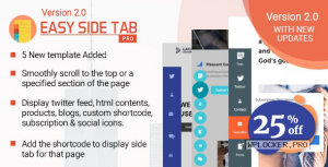 Easy Side Tab Pro v2.0.56 – Responsive Floating Tab Plugin For WordPress