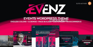 Evenz v1.2.8 – Conference and Event WordPress Theme