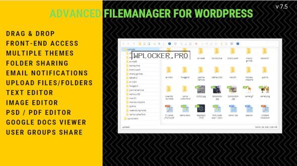 File Manager Plugin For WordPress v7.5.4