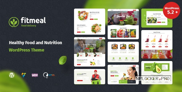 Fitmeal v1.2.5 – Organic Food Delivery and Healthy Nutrition WordPress Theme