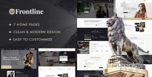 Frontline v1.0.1 – Attorney & Lawyer WordPress Theme