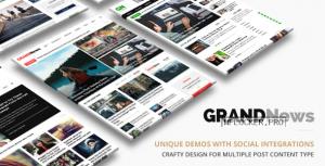 Grand News v3.4 – Magazine Newspaper WordPress