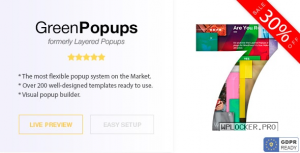 Green Popups (formerly Layered Popups) v7.1.6 – Popup Plugin for WordPress