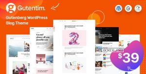 Gutentim v1.5 – Modern Gutenberg WordPress Blog Theme