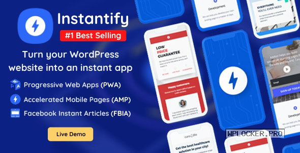 Instantify v3.9 – PWA & Google AMP & Facebook IA for WordPress