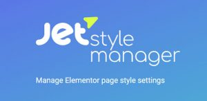 JetStyleManager v1.1.3 – Manage Elementor Page Style Settings
