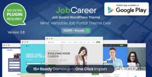 JobCareer v3.8 – Job Board Responsive WordPress Theme