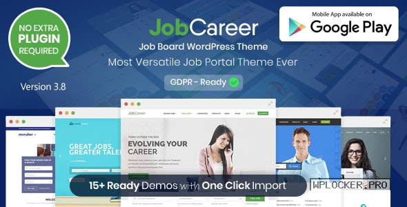 JobCareer v3.8 – Job Board Responsive WordPress Theme