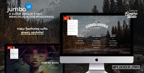 Jumbo v3.6 – A 3-in-1 full-screen menu for WordPress