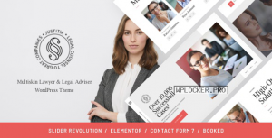 Justitia v1.0.5 – Multiskin Lawyer & Legal Adviser WordPress Theme
