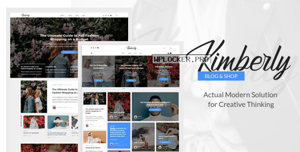 Kimberly v1.1 – WordPress Blog & Shop Theme