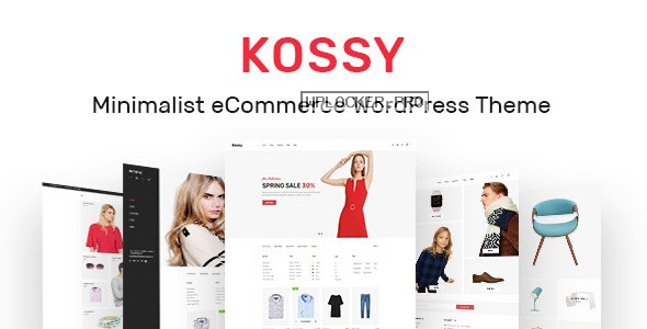Kossy v1.24 – Minimalist eCommerce WordPress Theme