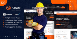 Kriate v1.0 – Industrial Construction Multipurpose WordPress Theme
