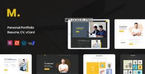Mak v1.2.4 – Personal Portfolio & Resume WordPress Theme