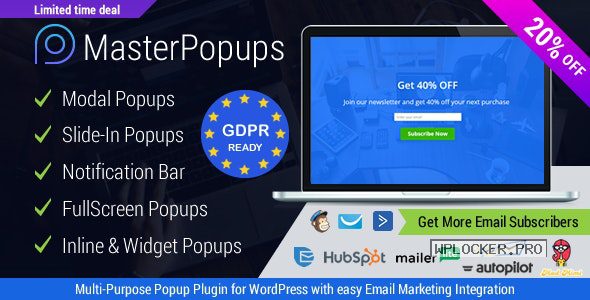 Master Popups v3.6.5 – Popup Plugin for Lead Generation
