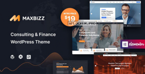 Maxbizz v1.0 – Consulting & Financial Elementor WordPress Theme