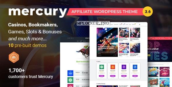Mercury v3.6.1 – Gambling & Casino Affiliate WordPress Theme. News & Reviews