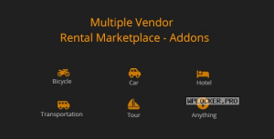 Multiple Vendor for Rental Marketplace in WooCommerce (add-ons) v1.0.0