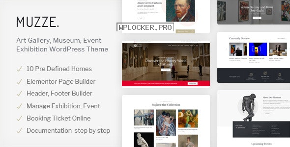 Muzze v1.3.0 – Museum Art Gallery Exhibition WordPress Theme