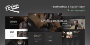 Nelson v1.2.0 – Barbershop Hairdresser & Tattoo Salon WordPress Theme