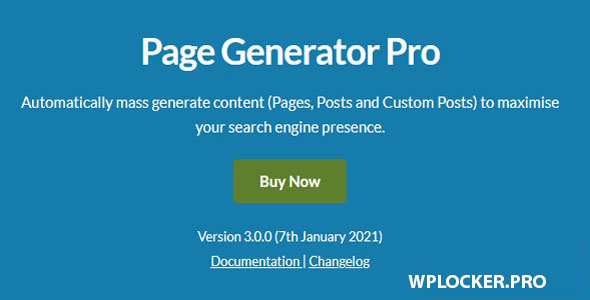 Page Generators Pro v3.0.0 – WordPress Page Builder