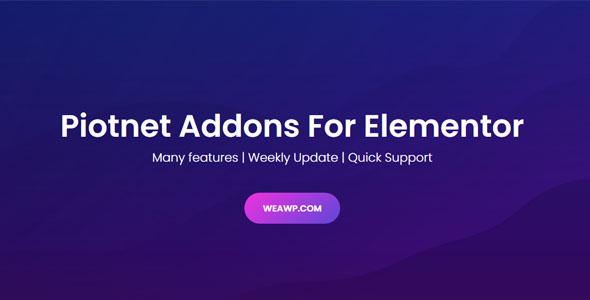 Piotnet Addons Pro For Elementor v6.3.58