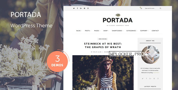Portada v1.8 – Elegant Blog Blogging WordPress Theme