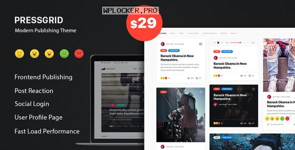 PressGrid v1.3.1 – Frontend Publish Reaction & Multimedia Theme