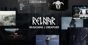 Reinar v1.2.7 – A Nordic Inspired Music and Creative WordPress Theme