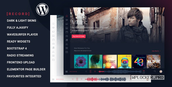 Rekord v1.5.0 – Ajaxify Music – Events – Podcasts Multipurpose WordPress Theme