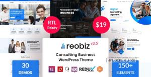 Reobiz v3.5 – Consulting Business WordPress Theme