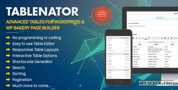 Tablenator v2.1.7 – Advanced Tables for WordPress
