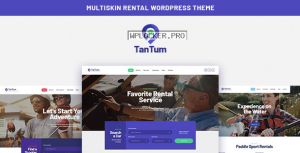 TanTum v1.1.1 – Car, Scooter, Boat & Bike Rental Services WordPress Theme