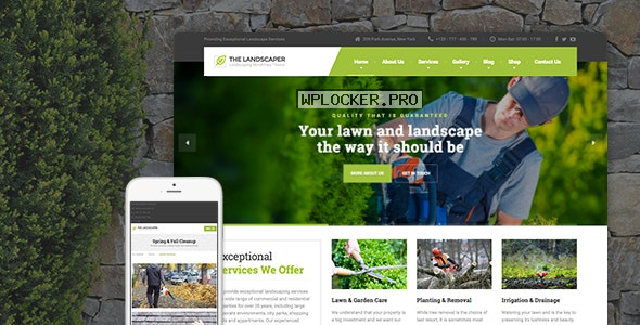 The Landscaper v2.4.2 – Lawn & Landscaping WP Theme