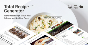 Total Recipe Generator v2.3.2 – WordPress Recipe Maker with Schema and Nutrition Facts