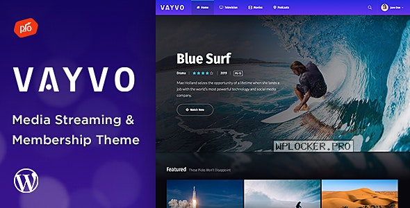 Vayvo v3.5 – Media Streaming & Membership Theme