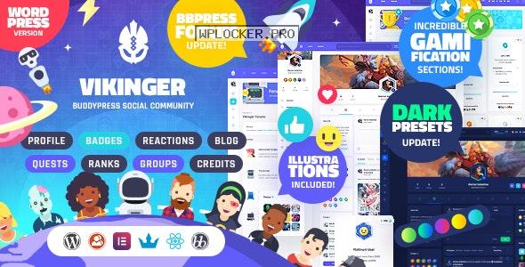 Vikinger v1.3.0 – BuddyPress and GamiPress Social Community