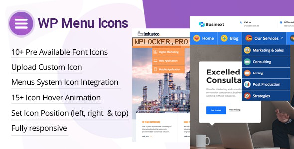 WP Menu Icons v1.1.6 – Effectively Add & Customize Icons For WordPress Menus