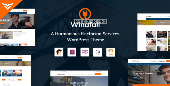 Windfall v1.3.1 – Electrician Services WordPress Theme