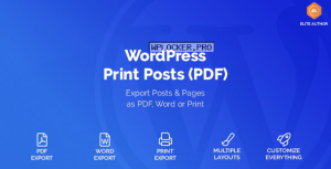 WordPress Print Posts & Pages (PDF) v1.5.4