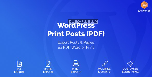 WordPress Print Posts & Pages (PDF) v1.5.4