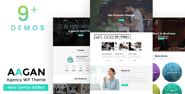 Aagan v2.7 – Agency, Startup WordPress Theme