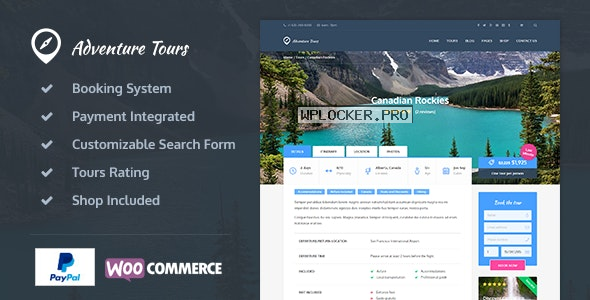 Adventure Tours v4.1.4 – WordPress Tour/Travel Theme