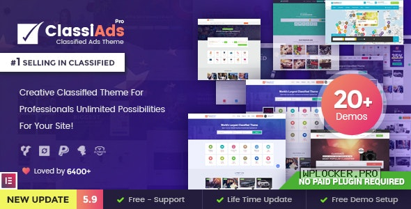 Classiads v5.9.0 – Classified Ads WordPress Theme