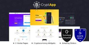 CryptApp Landing Page v2.3 – Cryptocurrency Theme