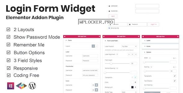 Login Form Widget Elementor Addon Plugin v1.0.2
