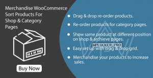 Merchandise WooCommerce v1.0 – Sort Products For Shop & Category Pages